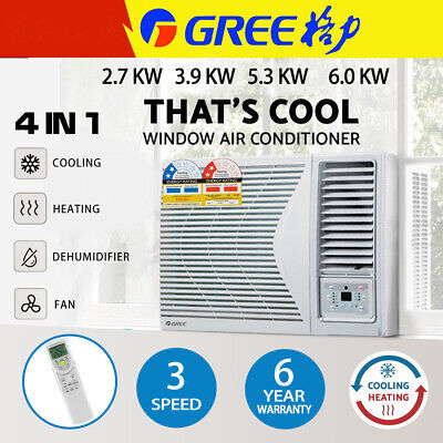 AU662 • Buy Gree 2.7-9.0kw Window Wall Box Air Conditioner Fan Cooler Heater Reverse Cycle