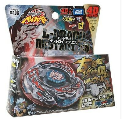 $4.98 • Buy Beyblade Burst L-Drago Destroy (Destructor) Metal Fury 4D Beyblade BB108 Gift