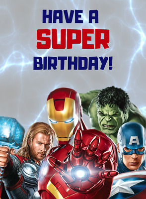 Marvel Superhero Birthday Card Iron Man, Hulk And More Large A5 Happy Birthday • 1.50£