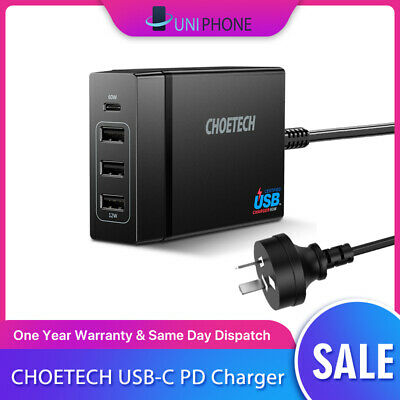 AU47.88 • Buy 【72w】CHOETECH 4 Ports PD USB C Wall Charger Macbook IPad Iphone Charging Station