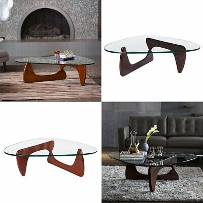 $359.99 • Buy Noguchi Style Coffee Table Walnut Cherry Authentic Brand New Triangle Wood Base