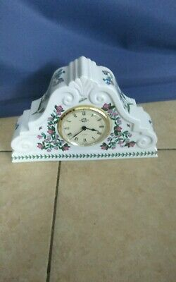 Large Portmeirion Botanic Garden Mantel Clock 325mm L X 210mm H Fully Working  • 65£