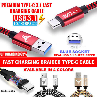AU7.99 • Buy Fast Charging USB Type C Charger Cable For Samsung S8 S10 S9 S20 Plus Note 9 10