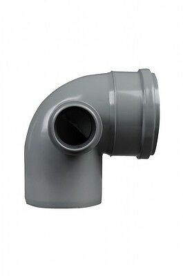 £11.99 • Buy 110mm Soil Pipe Elbow Bend 90° Single Socket With 50 Mm Left Side Inlet, Waste G