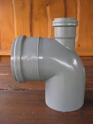 £14.99 • Buy 110mm Soil Pipe Elbow Bend 90° Single Socket With 50 Mm Inlet, Sewer Waste Smart