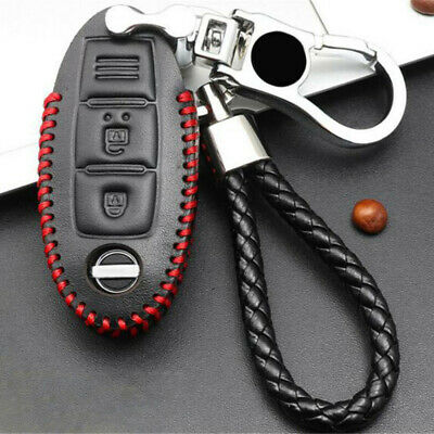 $7.53 • Buy Leather Remote Car Key Bag Case Cover Holder Protection W/ Keychain Auto Parts