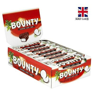 BOUNTY DARK CHOCOLATE 57g X 12 Bars Free Delivery Cheapest Case Box NEW Gift UK • 16.39£