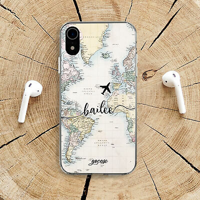 £11.32 • Buy World Map IPhone 11 X Silicone Case Travel Adventure IPhone XS XR 7 8 Plus Skin