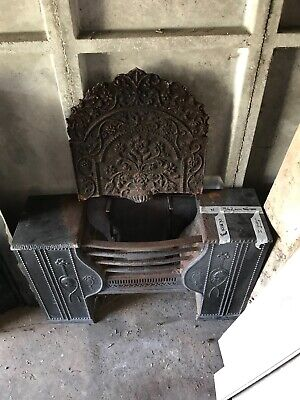Reclaimed Victorian Hob Grate Fireplace Open Fire With Fireback • 600£