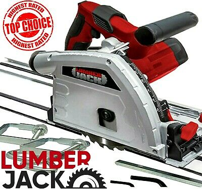 £159.99 • Buy Lumberjack Circular Plunge Cut Track Saw With 2 Guide Rails Clamps & 165mm Blade