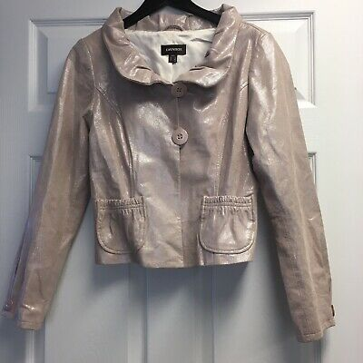$ CDN31.82 • Buy Danier Jacket Pink Shimmer Genuine Leather. Womens Size Small.