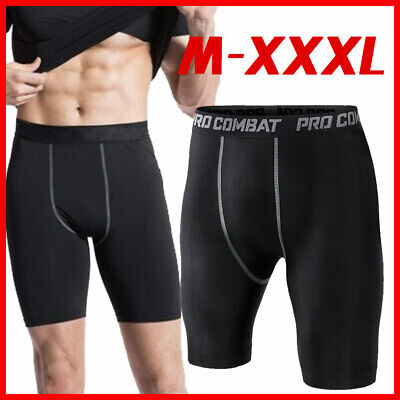 £6.89 • Buy Men Sports AU Under Skin Base Shorts Pants Compression Tights Pant Fitness Layer