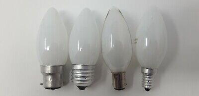 25w 40w 60w Pearl Frosted Opal Candle Light Bulb Lamp BC ES SBC SES  4/10 Bulbs • 11.54£
