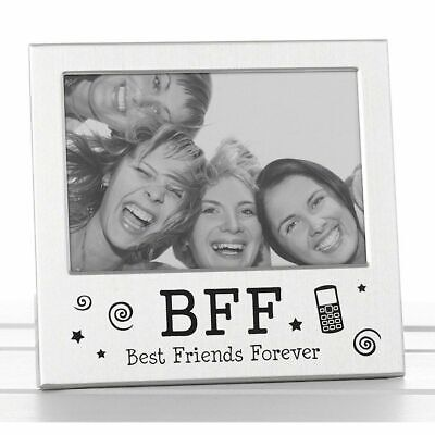 £4.49 • Buy Engraved BBF Best Friend Forever Photo Frame Birthday Friendship Occasion Gifts