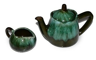 $ CDN39.97 • Buy Blue Mountain Pottery Drip Glaze Teapot W/Creamer Vintage Made In Canada