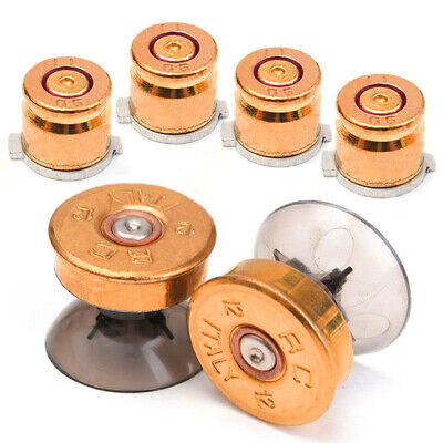 AU10.69 • Buy KE_ For Sony PS4/PS3 Controller 6pcs Gold Metal Bullet' Buttons Shell Thumbstic