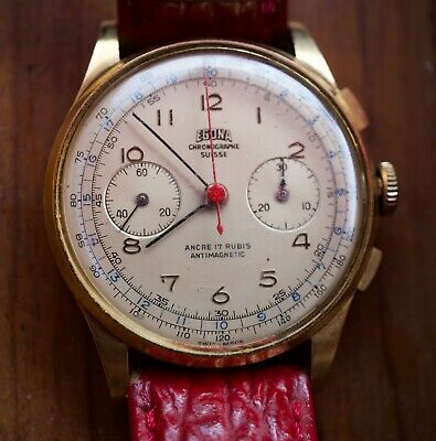 $ CDN800 • Buy Rare And Vintage EGONA Swiss Chronograph  Anno Santo 1950  Manual Winding