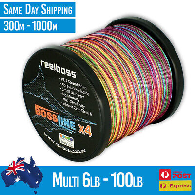 AU16.95 • Buy ReelBoss Braid Fishing Line 6 8 10 12 15 20 30 40 50lb 65lb 80lb 100lb 300m 500m