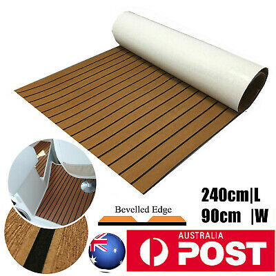 AU76.99 • Buy Wood Brown Marine Flooring Mat Faux Teak EVA Foam Boat Yacht Decking Sheet