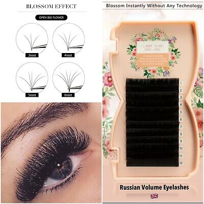 £10.99 • Buy Russian Volume Lashes 3D EASY FANNING Silk Mink Individual Eyelashes Extension