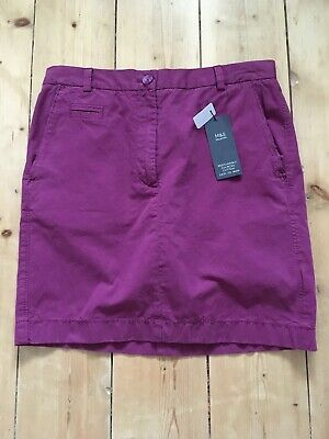 £10.50 • Buy Womens Chino Skirt Easy Iron 8 Magenta New With Tags Summer Casual