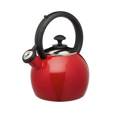 Le Xpress Stove Top Kettle Red Whistling Enamel Coated Vibrant Small 1.3 Litre  • 25.99£