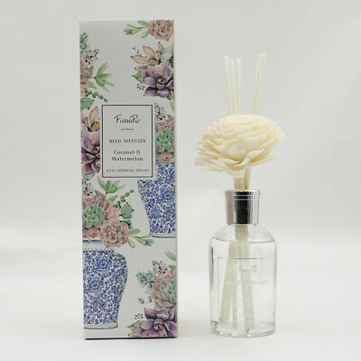 AU21.30 • Buy 200ml Ceramics Reed Diffuser With Flower Triple Strength 35% Essential Oil