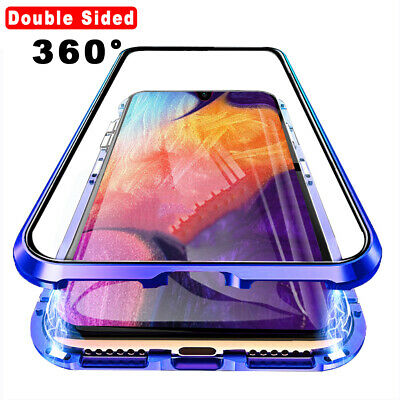 $ CDN10.57 • Buy Double Sided Glass Case Magnetic Phone Cover For Samsung Galaxy S10 Plus A50 A30