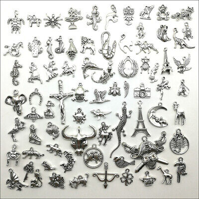 Wholesale Antique Silver Charms Pendants Carfts Jewelry Finding DIY 101 Styles • 0.99£