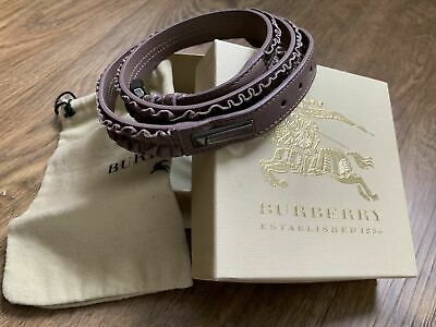 Authentic BURBERRY Leather Scrunch Belt. Made In Italy. Size 36/90. • 126.47£