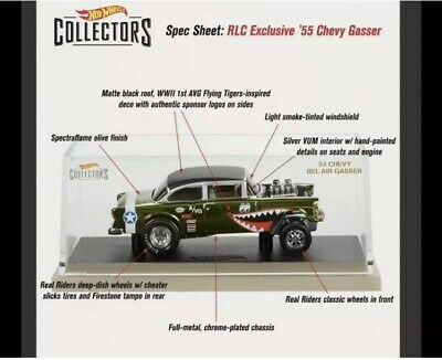Hot Wheels RLC 55' Chevy Bel Air Gasser Red Line Club 2019 *SHIPS TODAY* • 179.99$