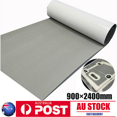 AU75.99 • Buy Gray EVA Foam Marine Flooring Adhesive Yacht Boat Decking Carpet In Black Layer