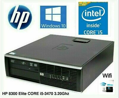 AU179 • Buy HP 8300 Elite SFF I5-3470 3.20Ghz 8Gb SSD+HDD Win10P Dekstop PC Computer Wifi