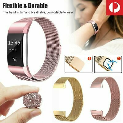 AU7.99 • Buy For Fitbit Charge 3 Magnetic Clasp AU 2 Sizes Band Stainless Steel Milanese