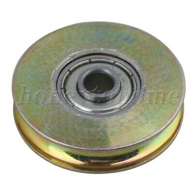 $6.97 • Buy U Groove Sealed Ball Bearing 38mm ID Wire Rope Track Guide Pulley Bearing Steel