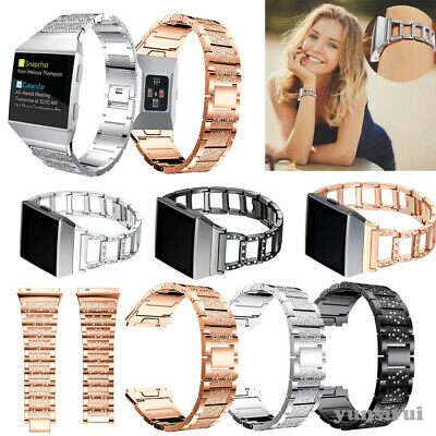 $ CDN15.23 • Buy Diamonds For Fitbit Ionic Wristband Strap Stainless Steel Bracelet Watch Band