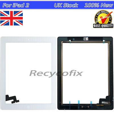£7.79 • Buy For IPad 2 White Screen Replacement Touch Digitizer With Home Button