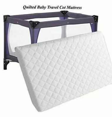 £19.75 • Buy Mamas And Papa 95 X 65 X 7.5 Cm Extra Thick Foam Travel Cot Mattress Made In UK