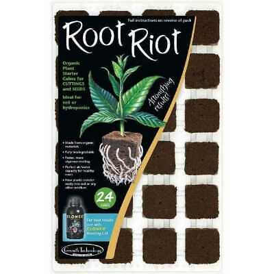 £9.98 • Buy Growth Technology Root Riot Tray 24 Starter Cubes For Plants