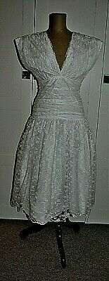 AU85 • Buy Vintage 80's Lace Overlay Party/Cocktail (Wedding?) Dress