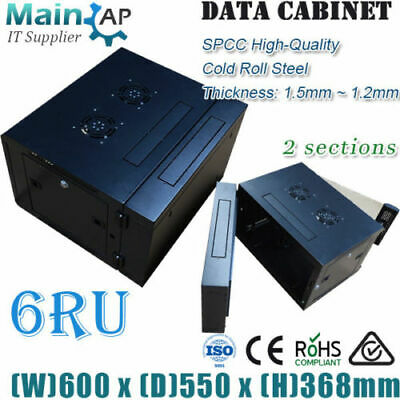 AU185 • Buy 6RU 600mmX550mm WALL MOUNT NETWORK SERVER CABINET 2 SECTIONS HOME THERTER  Combo