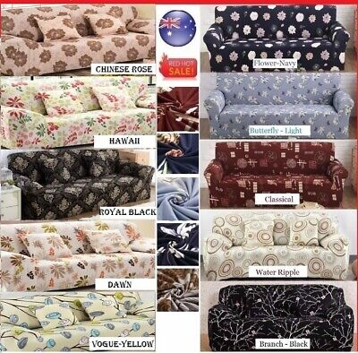 AU22.14 • Buy Stretch Sofa Cover Lounge Couch Removable Slipcover Washable 1/2/3/4 Seater