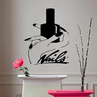 £12.70 • Buy Nails Art Vinyl Wall Stickers Beauty Salon Manicure Removeable Wall Decal Decor
