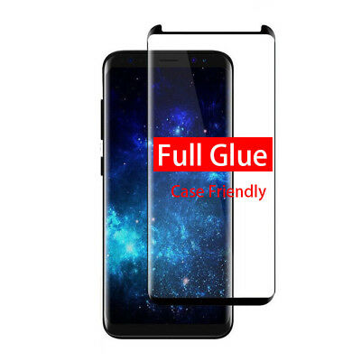 $ CDN6.36 • Buy Full Glue Tempered Glass For Samsung Galaxy S8 S9 Plus Note 8 9 Screen Protector