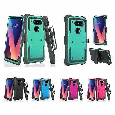 AU17.03 • Buy LG V30, V30 Plus Case, V30+ Rugged Built-in Screen Protector Holster Clip Cover