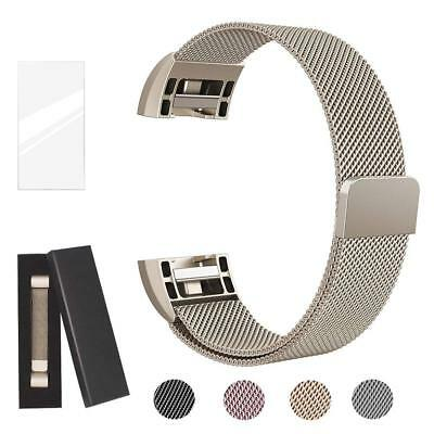 $ CDN12.54 • Buy Metal Band Compatible Fitbit Charge 2 Milanese Stainless Steel Metal Magnetic