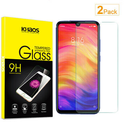 $7.35 • Buy 2X Khaos For Xiaomi Redmi Note7S /Note 7 Pro Tempered Glass Screen Protector