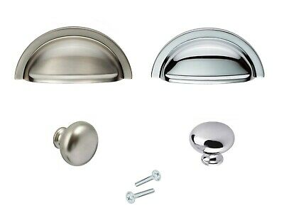Cup Handle Or Mushroom Cabinet Knob Kitchen Wardrobe Cupboard Door Drawer  • 3.19£
