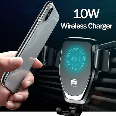 AU17.99 • Buy 10W QI Wireless Fast Charger Car Holder Gravity Mount IPhone X XS Samsung S9 AU