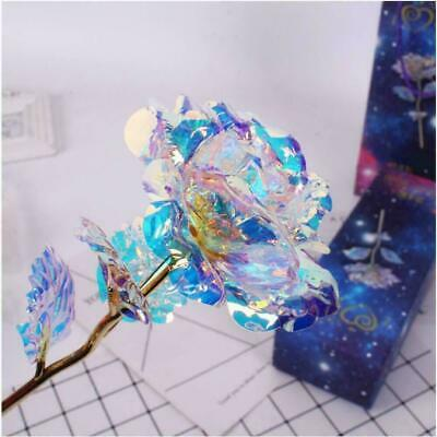 Galaxy Rose Romantic Crystal Flower Valentine's Day Lovers Rose With Gift Box • 6.79£